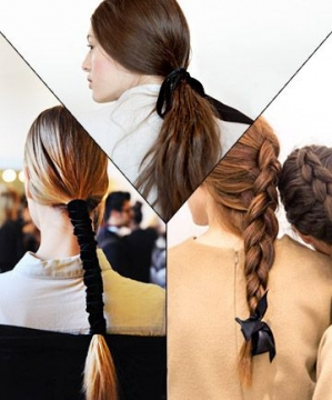 Use ribbons and style your hair in a fashionable way