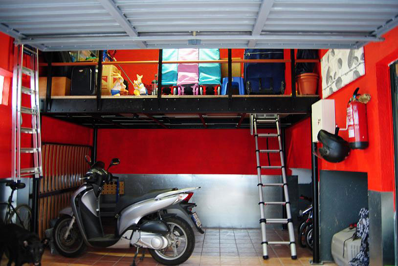 Smart ways to include mezzanine floors in your home Garage storage mezzanine