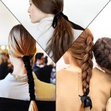 Use-ribbons-and-style-your-hair-in-a-fashionable-way