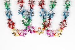 Getting ready for Christmas with ribbons